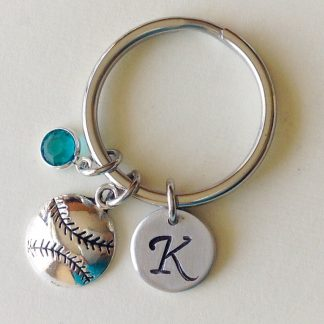 BASE BALL KEY RING